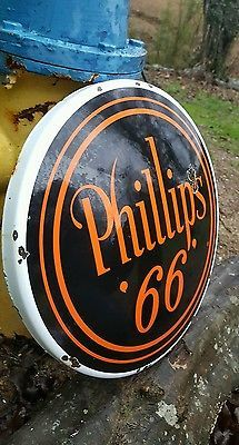 Details about Phillips 66 Gas Motor Oil Porcelain / Enamel