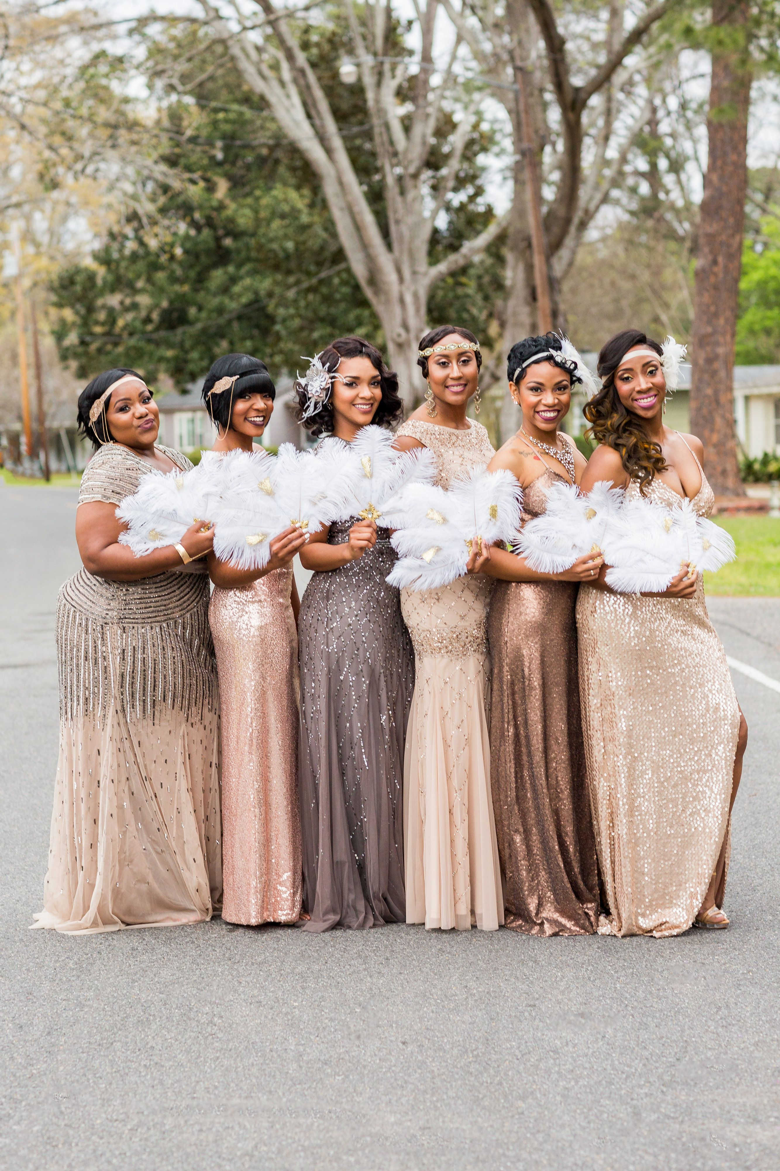 The 2017 Essence Bridal Bliss Awards Are Here See The Winning Moments Gatsby Wedding Dress Roaring 20s Wedding 1920s Wedding Theme