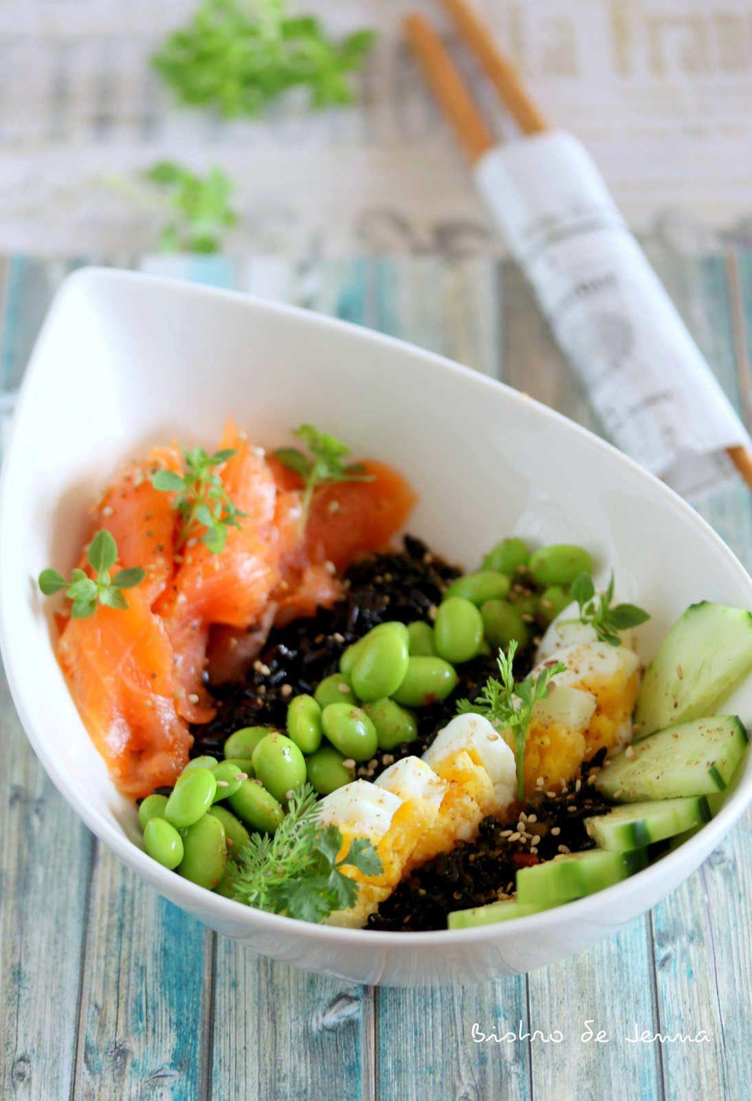 Power Bowl au riz vénéré | Riz venere, Recette riz et ...