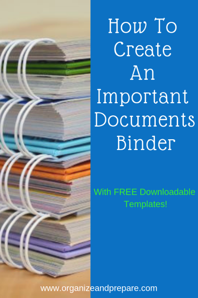 How To Create An Important Documents Binder - Organize & Prepare