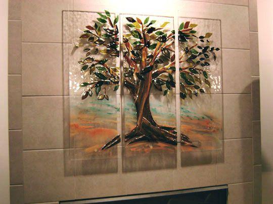 rbol de la vida en mural de vidrio fundido designer glass mosaicos glass wall artfused