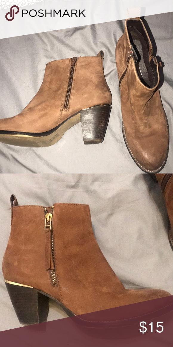 82b151b07b1 Boots Suede boots. Brown. 2 inch heels. Zipper. Steve Madden Shoes Heeled  Boots