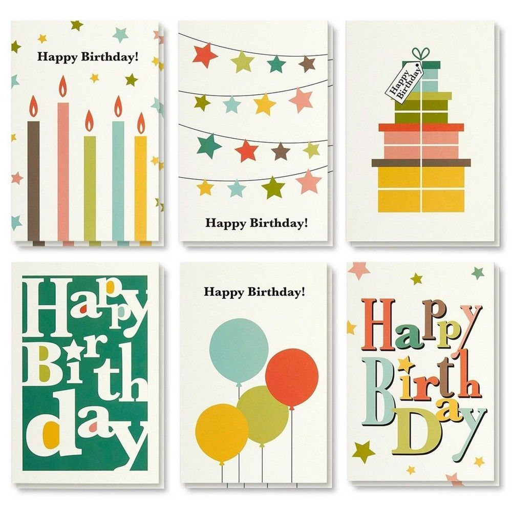 Birthday Card 48 Pack Birthday Cards Box Set Happy Birthday Cards Bright Party Designs Birthday Card Bulk Envelopes Included 4 X 6 Inches Happy Birthday Cards Happy Birthday Greeting Card Happy Birthday Gifts