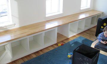 Ikea Expedit Shelves Butcherblock Countertop Platform