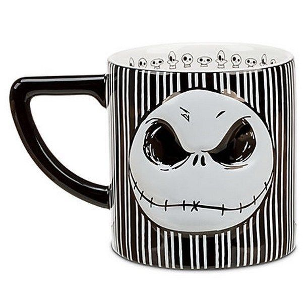Disney NIGHTMARE BEFORE CHRISTMAS Jack Skellington CERAMIC Coffee ...