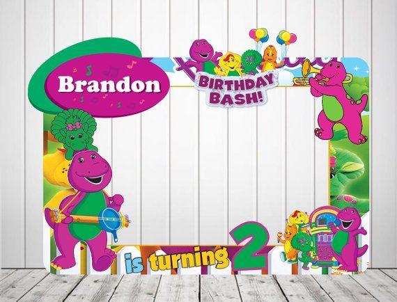 Barney Photo Booth Frame Barney Birthday Frame Barney Backdrop