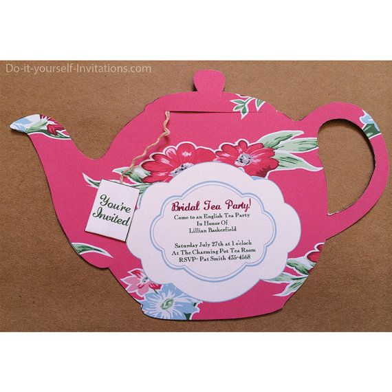 Printable tea party invitation bridal tea party invitation tea pot tea party teapot victorian cranberry with by doityourselfinvites homemade invitationstea party invitationsbridal shower filmwisefo