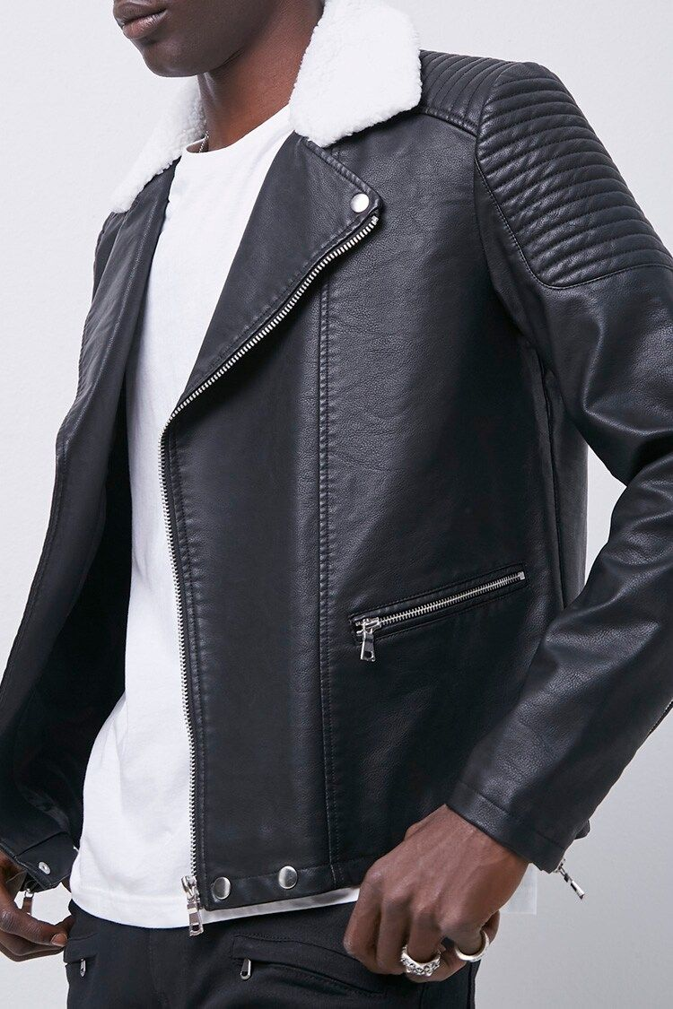 Faux Leather Moto Jacket Forever 21 Faux Leather Moto Jacket Leather Moto Jacket Moto Jacket [ 1125 x 750 Pixel ]