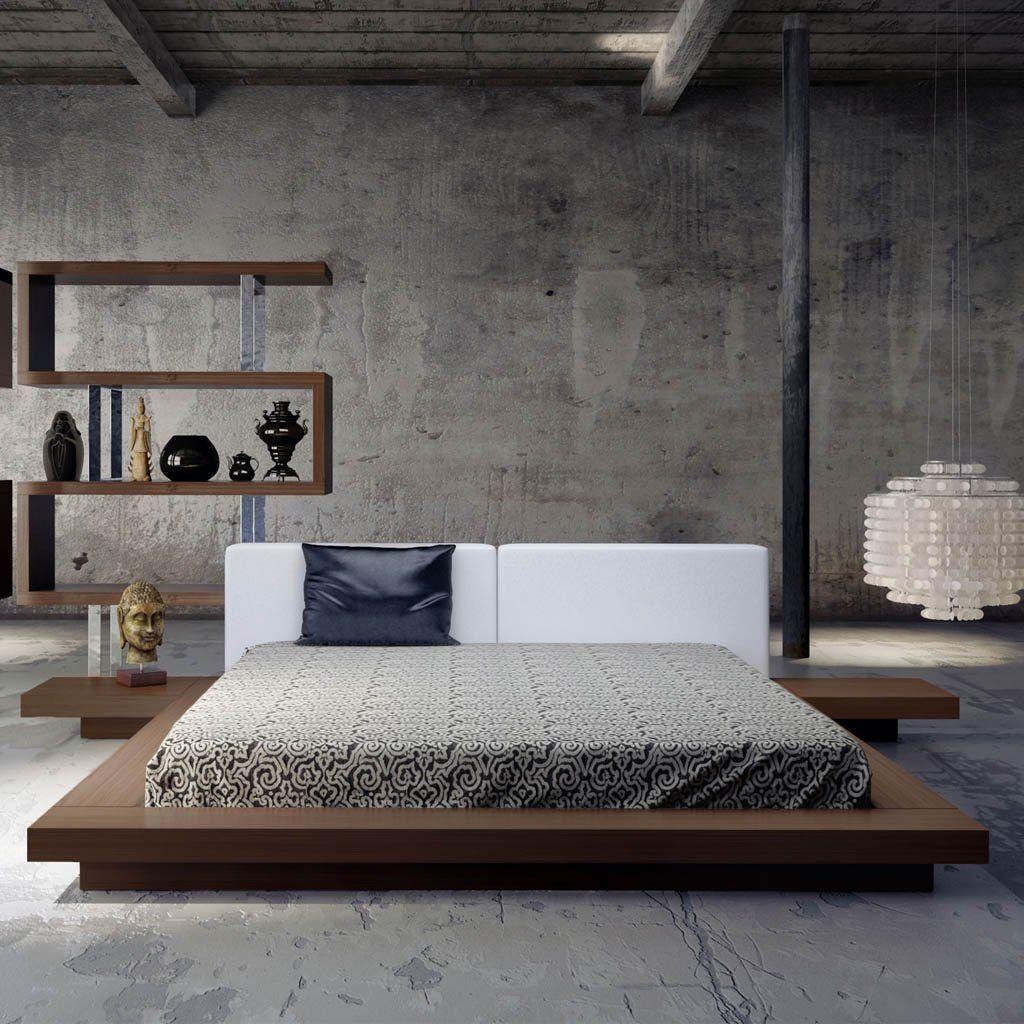 ModLoft Furniture Worth Bed - White on Walnut HB7A-WAL-WHT