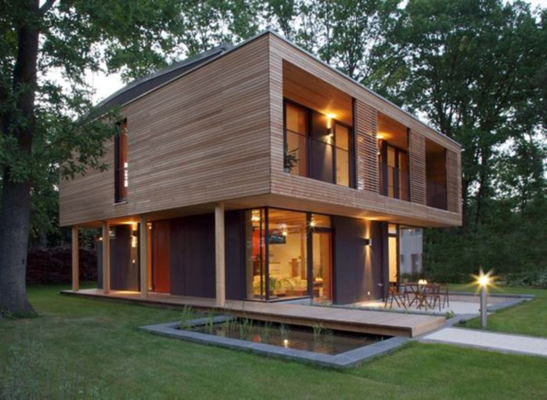 20 Inspirations Of Beautiful Small Houses With Country Concepts Passive House Design Wooden House Design Contemporary House Exterior