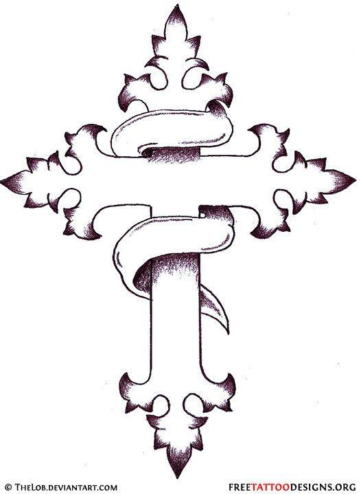 Pin On Cross Tattoo Templates