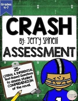 Crash by Jerry Spinelli End of Novel Assessment CCSS Aligned ...