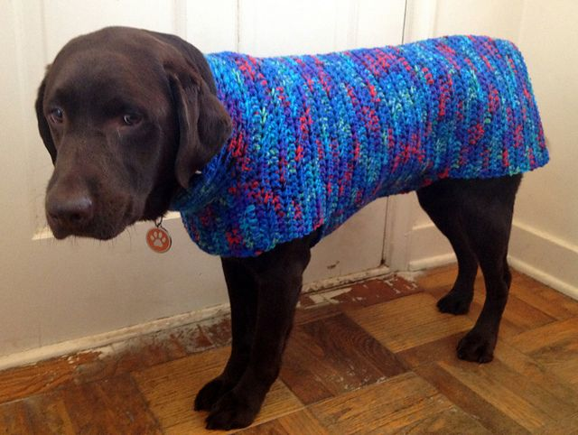 Ravelry: Dog Sweater-Jacket pattern by L-Squared | crochet ...