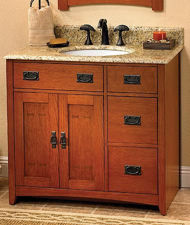 Mission Style Bathroom Vanity Krchciipj