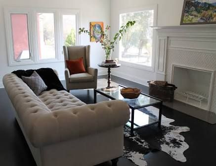white tufted sofa decorating - Google Search