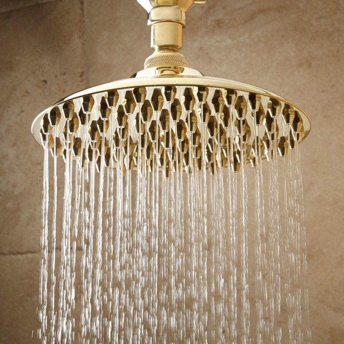 Bostonian Rainfall Nozzle Shower Head With S Type Arm Shower