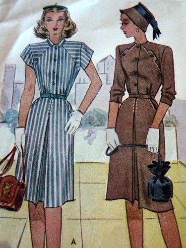 Vintage 1940s MCalls Dress Sewing Pattern