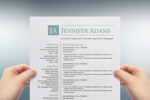 Blue Initials Word Resume Template  Cv Template Resume Cv And Logos