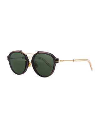 d859fb2bbb2b Dior DiorEclat Round Mirrored Sunglasses
