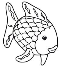 title met afbeeldingen the rainbow fish kleurplaten