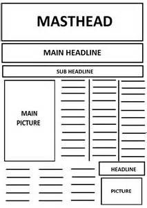 Layout Of A Newspaper Template  Yahoo Search Results  Templates