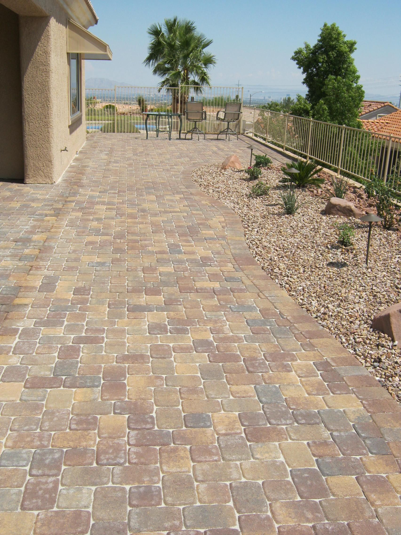 Another #LasVegas Patio Success! We Used The Plaza Old Town Blend For That  Taste Of The #desert Sunset. | #patio #landscaping #pavers #hardscaping U2026
