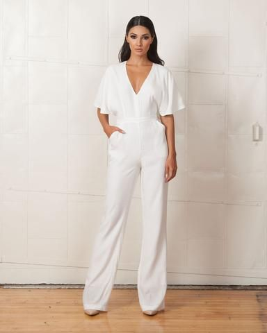 Keepsake White Holding Back Pantsuit #whitepantsuit