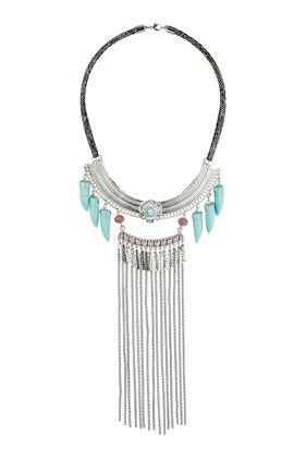 Semi Circular Beaded Necklace