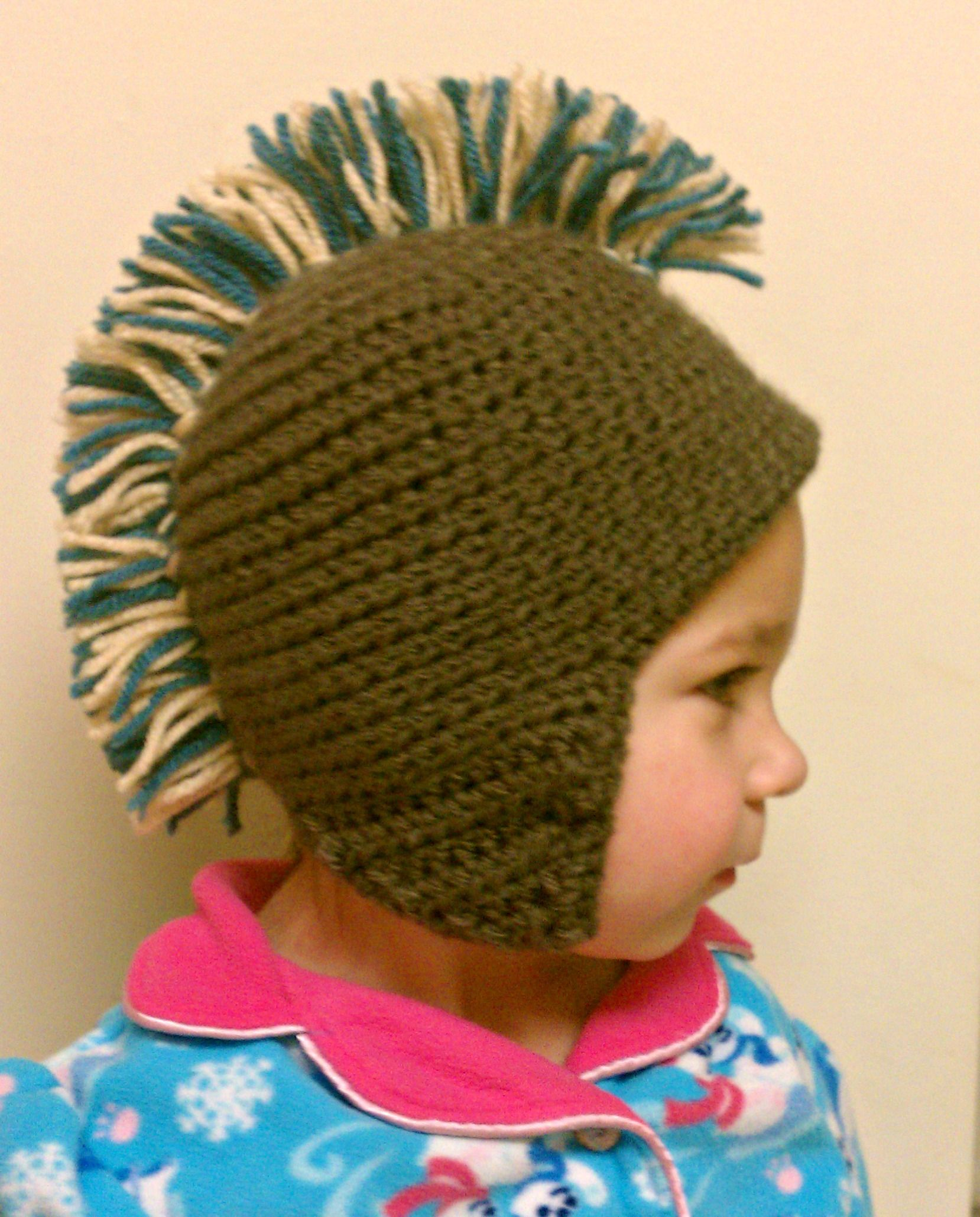 Mohawk hat pattern on my
