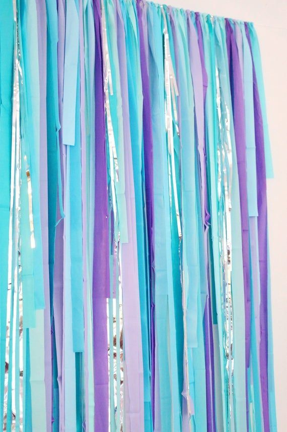 Streamer Backdrop, Fringe Backdrop, Mermaid Party Decorations, Mermaid Backdrop, Mermaid Birthday, U