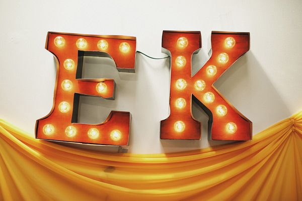 DIY vintage Carnival marquee letters