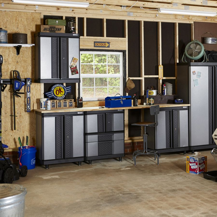 overhead kobalt storage as size with also reviews full organizer of well rails garage