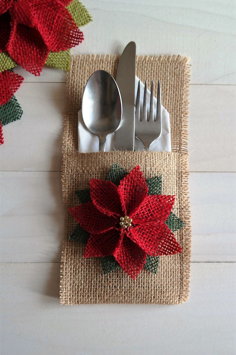 When You Re Remodeling Your Basement Take Care How You Decorate Christmas Silverware Holder Handmade Christmas Christmas Crafts