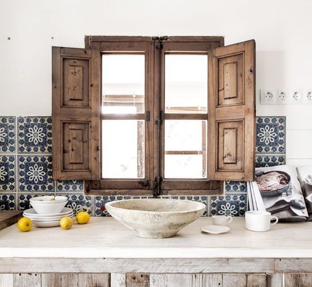 Wood window Home loveliness Pinterest Kitchen backsplash