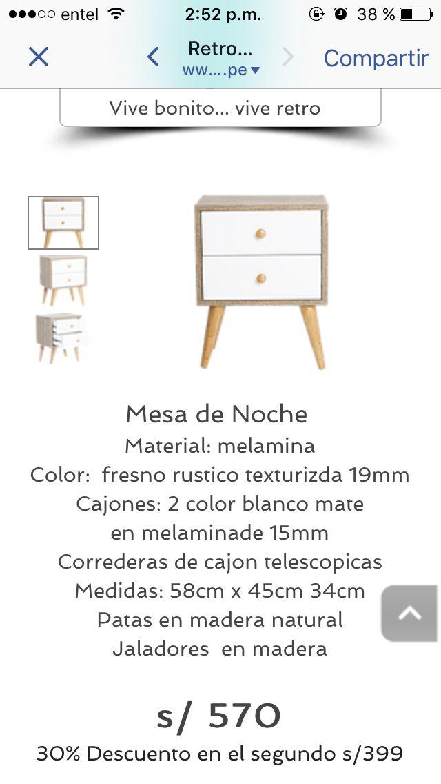 Mesa de noche | Ideas depa M&B | Pinterest | Mesita de noche, Noche ...