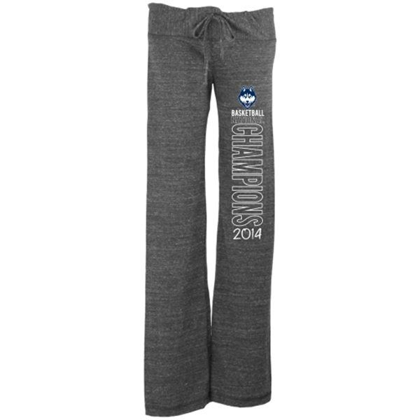 UConn Huskies 2014 NCAA Men's Basketball National Champions Women's Tri-Blend Pants - Gray