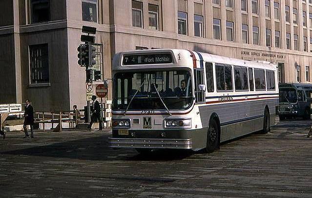 WMATA Metrobus (AM General 40') southbound on the Georgia