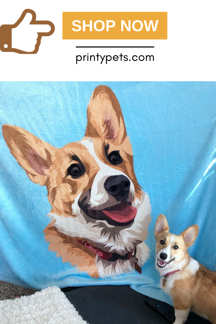 Custom Pet Print Fleece Blanket Fleece Blanket Pets Cute Blankets