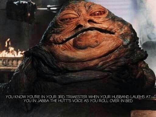 Jabba The Hutt 3rd Trimester Meme Funny Things Jabba The Hutt