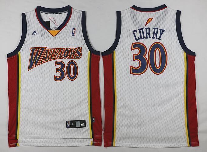 d5f62b140bc Men s Golden State Warriors  30 Stephen Curry Rookie White Swingman Jersey