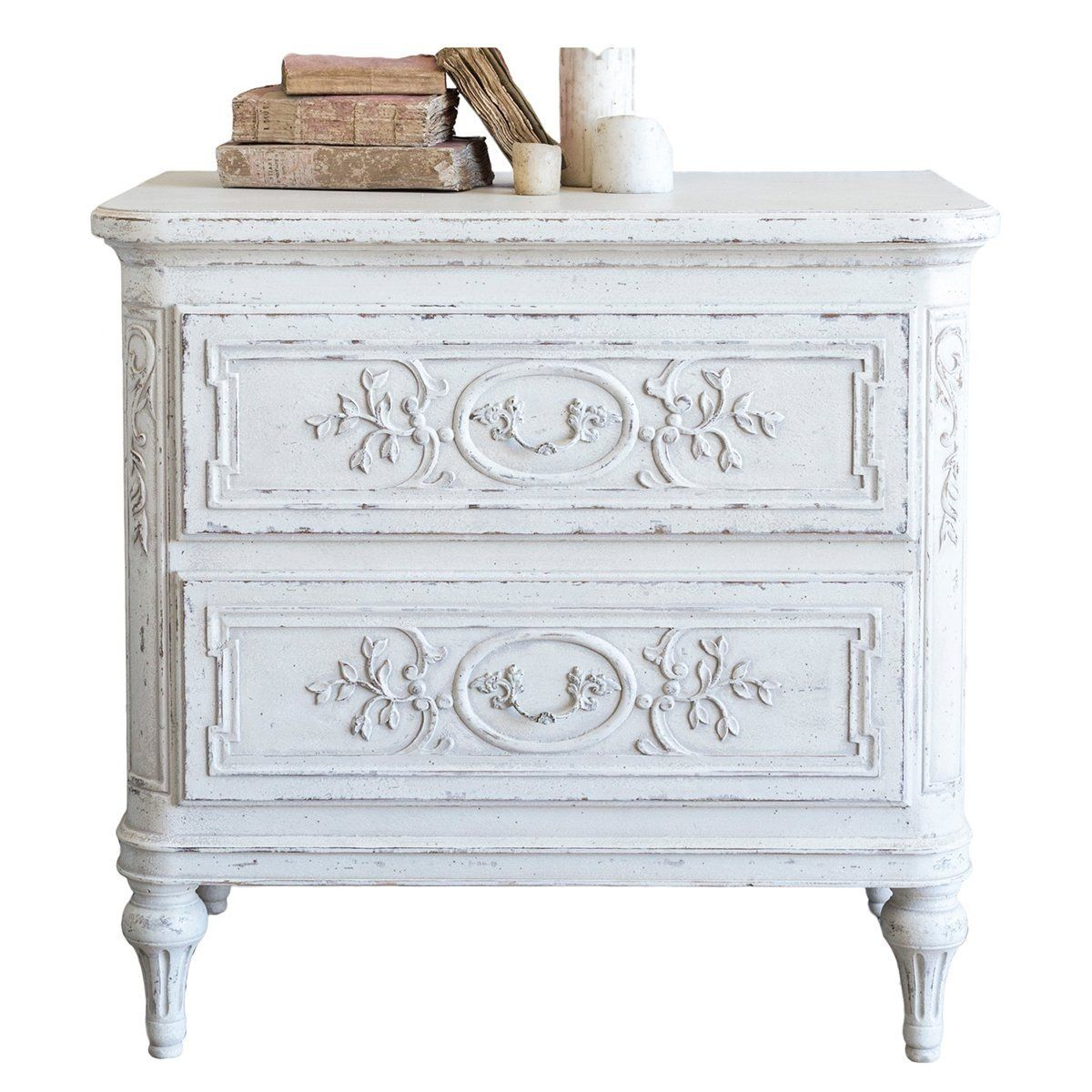 White Vintage French Nightstand Belle Escape Antique White Furniture Shabby Chic Furniture White Painted Furniture