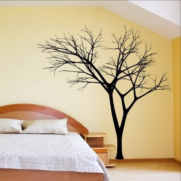 Winter Tree Style 2B Large Vinyl Wall Decal 22221 | Tree decals ...