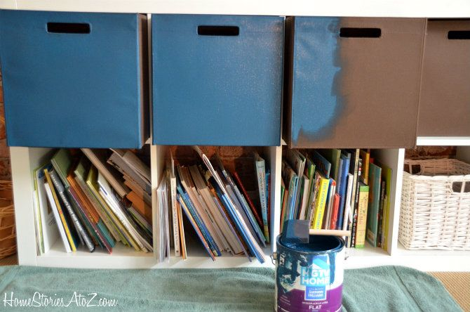 Genius Idea Ikea Expedit Shelves With Baskets For Storage: Expedit From Ikea {bin Fabric Painting