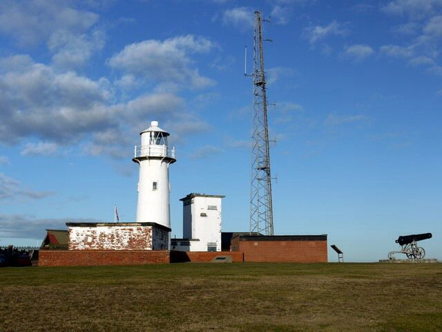 """The Heugh Lighthouse Originally built: 1846 Geographic Position: 54° 41"""" 48'   -1° 10"""" 32'"""