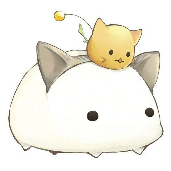 Anime Cat Cats Cute Cuteness Draw Kawaii Anime Animals Kawaii Cute Cute Drawings