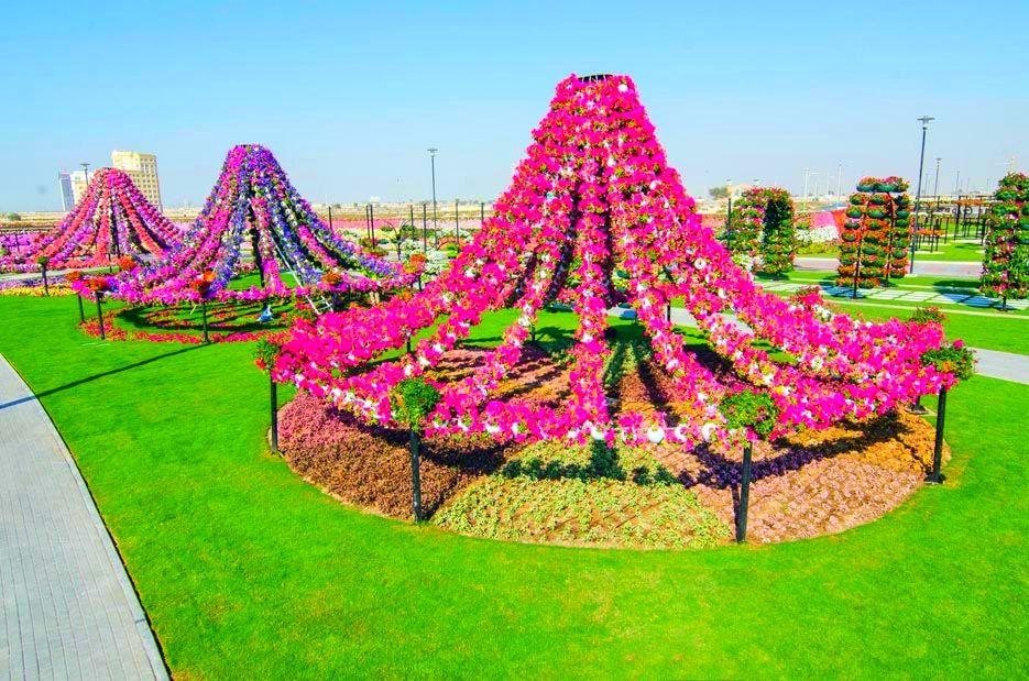 Dubai Miracle Garden Ariel View