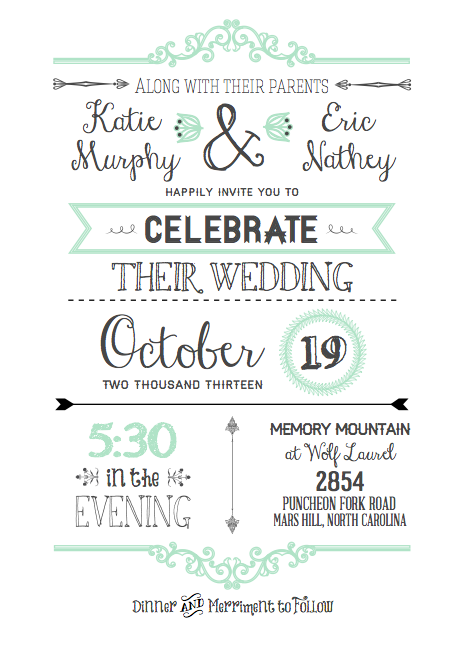 Diy Wedding Invitations With Free Printable Template I Really Would Rather Use This