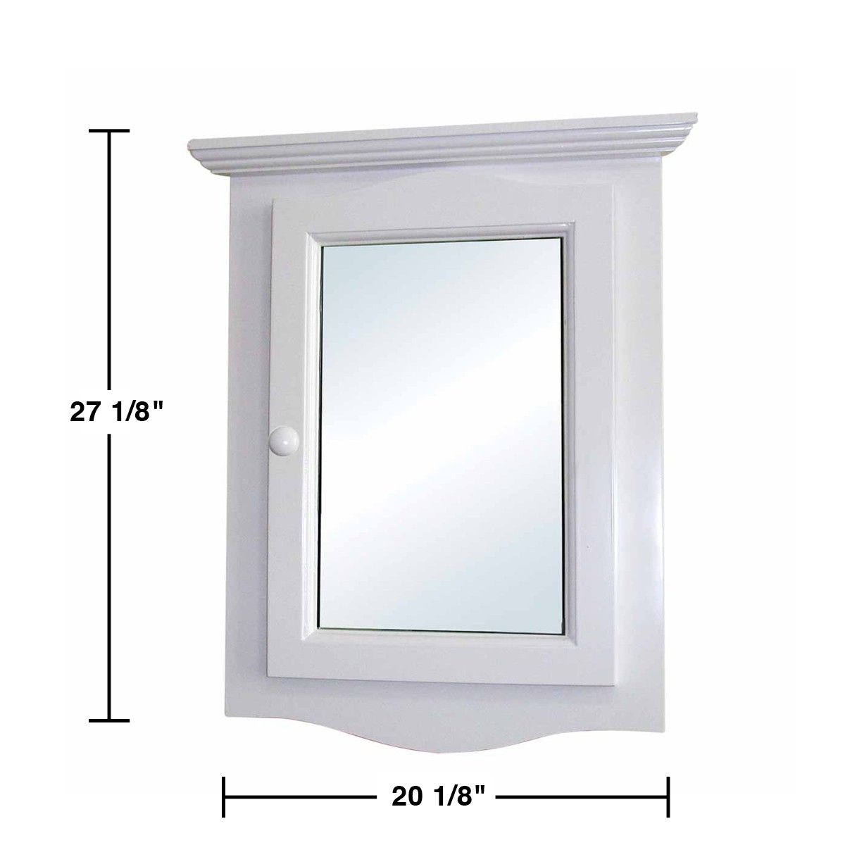 overstock hardware free clean mount product saver hardwood assembled mirror home shipping medicine wall recessed pre door easy included corner fully shelves white cabinet garden two space today