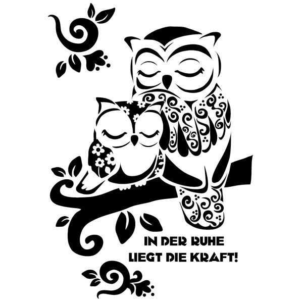 Aww...could be a momma/daughter tattoo | Coloriage hibou ...
