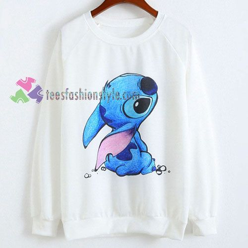 cute stitch Disney sweatshirt sweater tees unisex size S-3XL